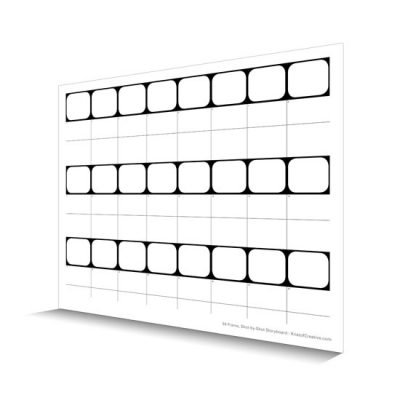 24 frame Shot-by-Shot Storyboard template
