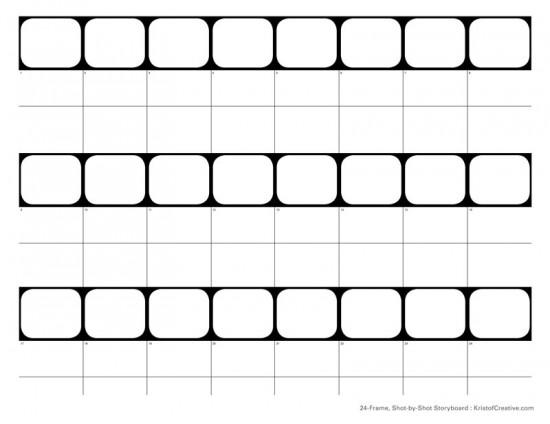 24 frame Shot-by-Shot Storyboard template