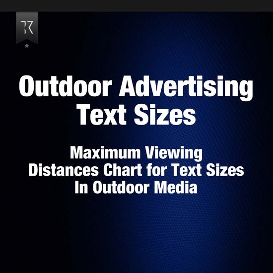 Outdoor Advertising Maximum Viewing Distances
