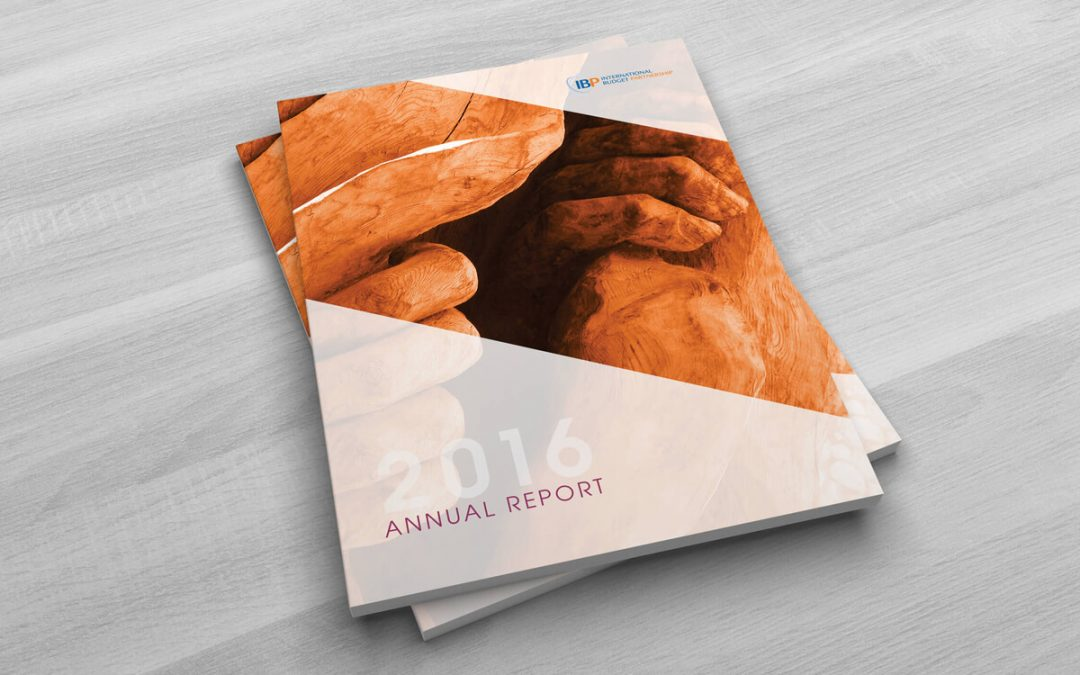 International Budget Partnership 2016 Annual Report Design