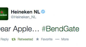 Heineken Awesomely Leverages Apple iPhone 6 #BendGate