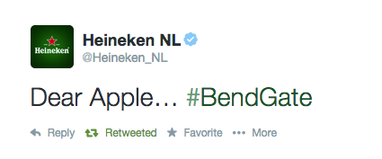 Heineken Awesomely Leverages Apple iPhone 6 #BendGate