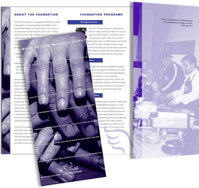 Faith Foundation Corporate Brochure Design