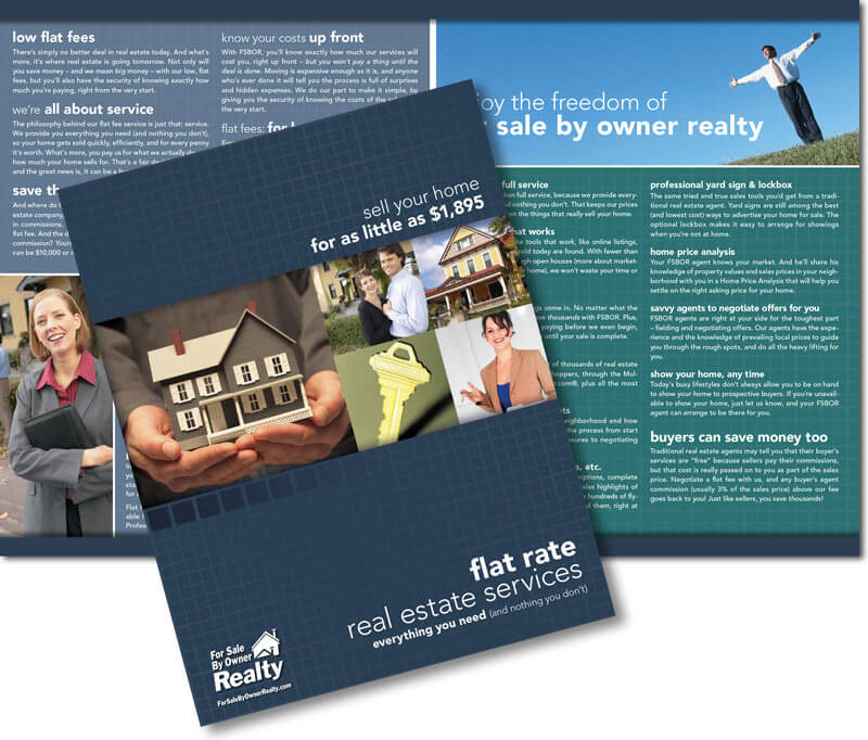 Real Estate Brochure Design for For Sale By Owner Realty