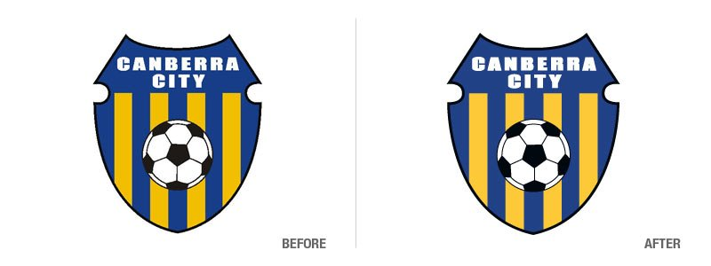 Canberra City Football Club Logo Conversion