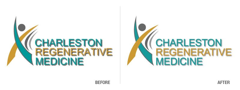 Charleston Regenerative Medicine Before and After Logo Conversion