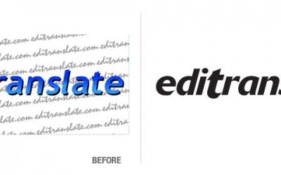 Editranslate Logo Conversion