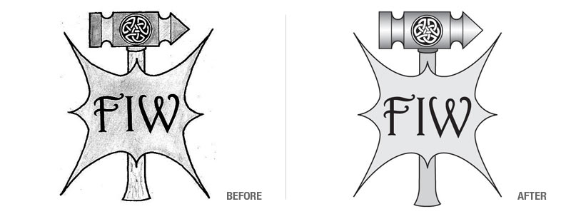 Ferron Iron Works Logo Conversion