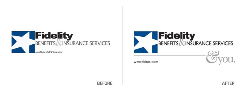 Fidelity Benefits & Insurance Logo Conversion Before and After