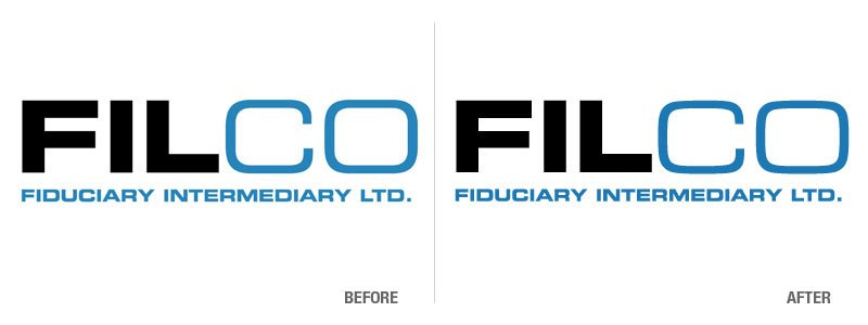 Fiduciary Intermediary Before and After Logo Conversion