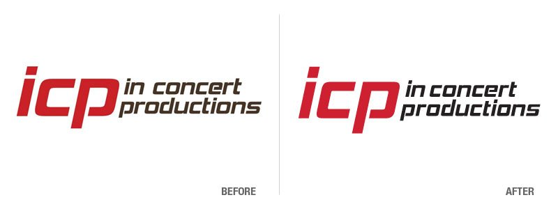 In Concert Productions Logo Conversion