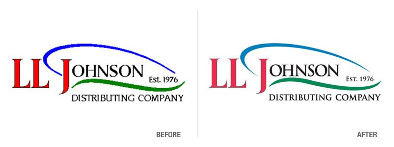 LL Johnson Distributing Logo Conversion