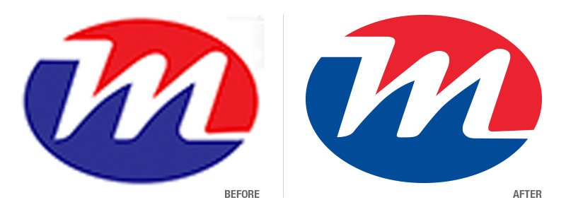 Metro Mechanical Corp Before and After Logo Conversion
