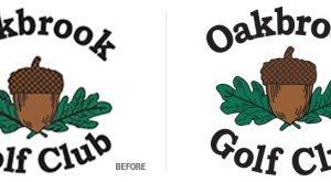 Oakbrook Golf Club Logo Conversion