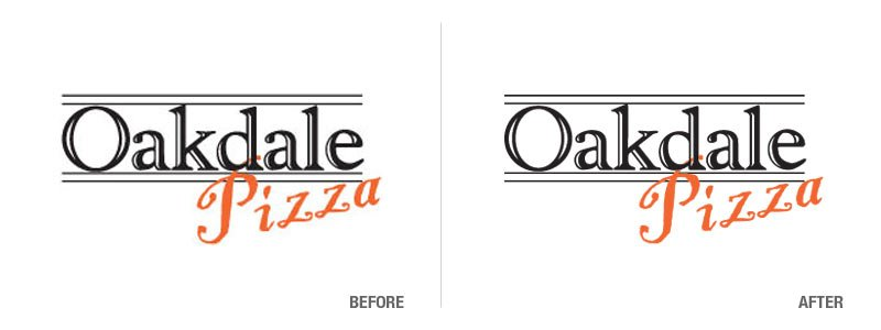Oakdale Pizza Logo Conversion