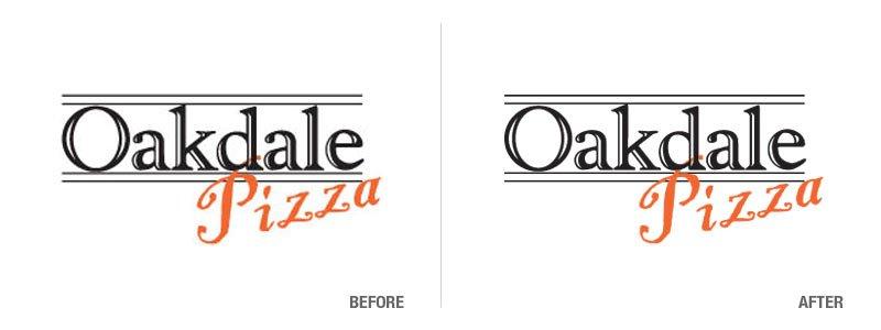 Oakdale Pizza Logo Conversion