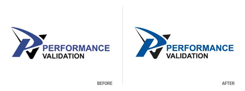Performance Validation Logo Conversion Before and After