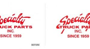 Specialty Truck Parts Logo Conversion
