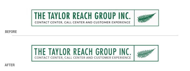 The Taylor Reach Group Before and After Logo Conversion