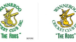 Wanneroo Cricket Club Logo Conversion