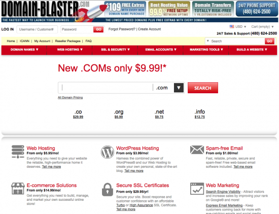 Domain-Blastercom Home Page