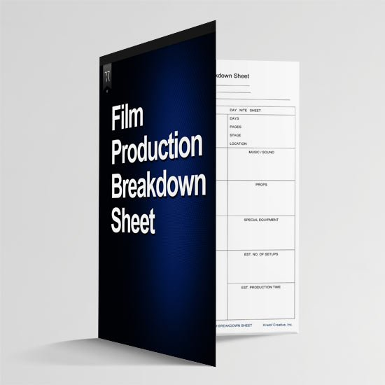 Film Production Breakdown Sheet
