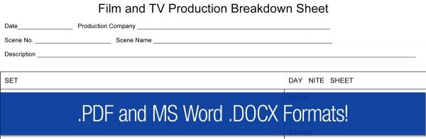 Film Scene Breakdown Sheet