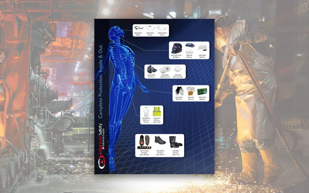 Advanced Safety Industrial Supply Product Sales Sheet Flyer