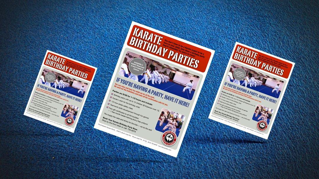 Deaton Karate Studios Birthday Flyer Design
