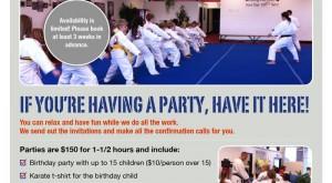Deaton Karate Birthday Flyer Design
