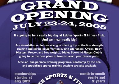 Eddies Sports N Fitness Grand Opening Flyer Design