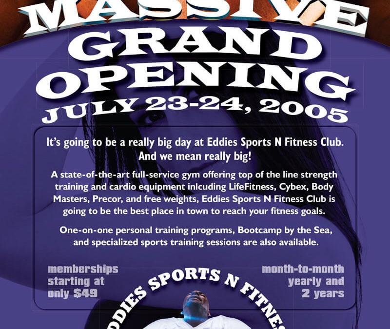 Eddies Sports N Fitness Grand Opening Flyer Design