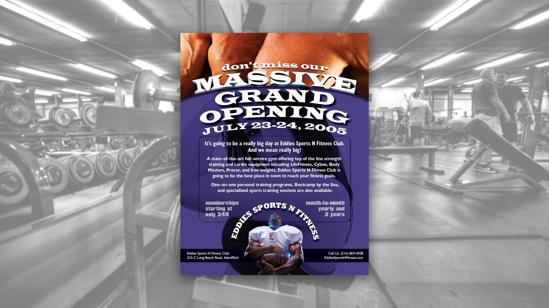 Flyer design for Eddies Sports N Fitness Club