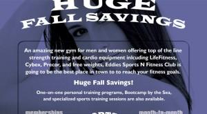 Eddies Sports N Fitness Fall Special Gym Flyer Design