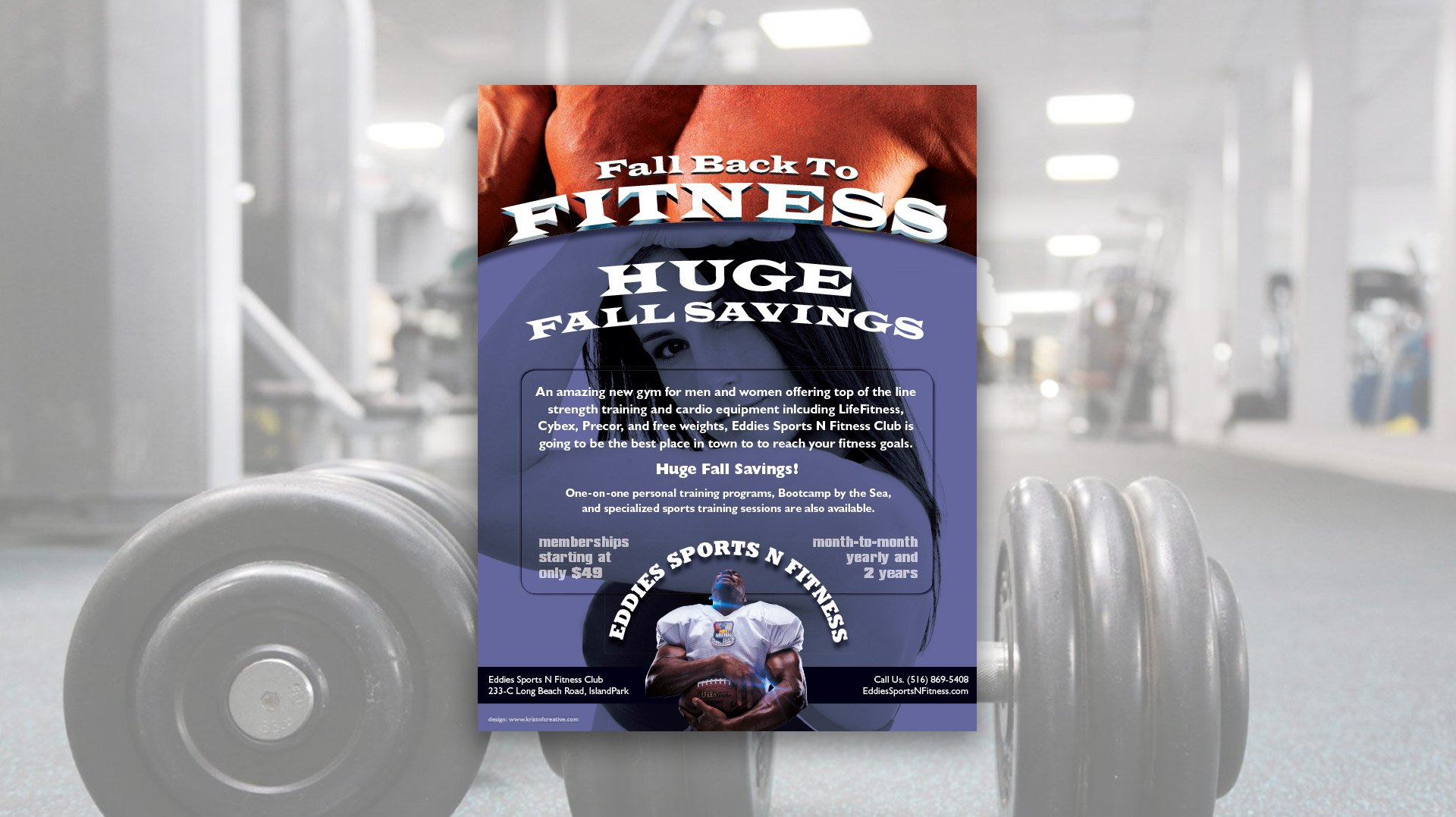 Gym Flyer Design for Eddies Sports N Fitness