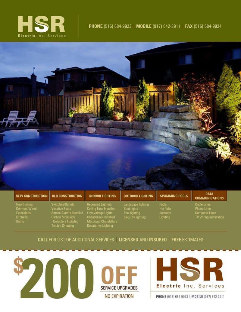 HSR Electrical Services Flyer Design