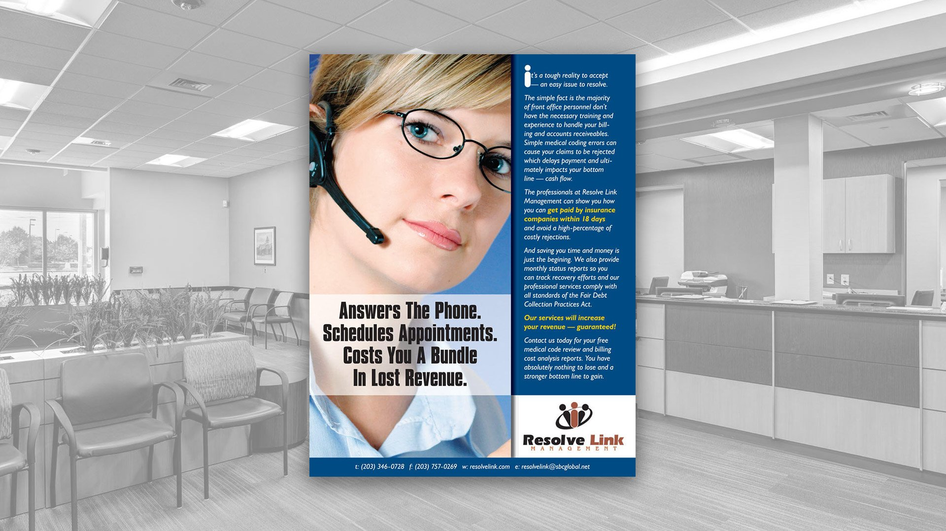 Flyer Design for Resolve Link Management - Medical Billing