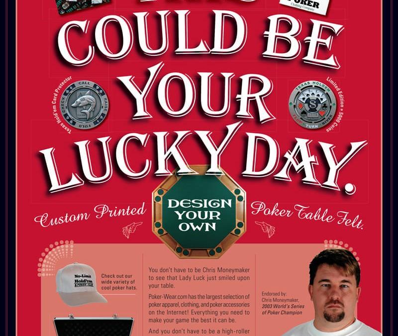 Poker Wear Promotional Flyer Design
