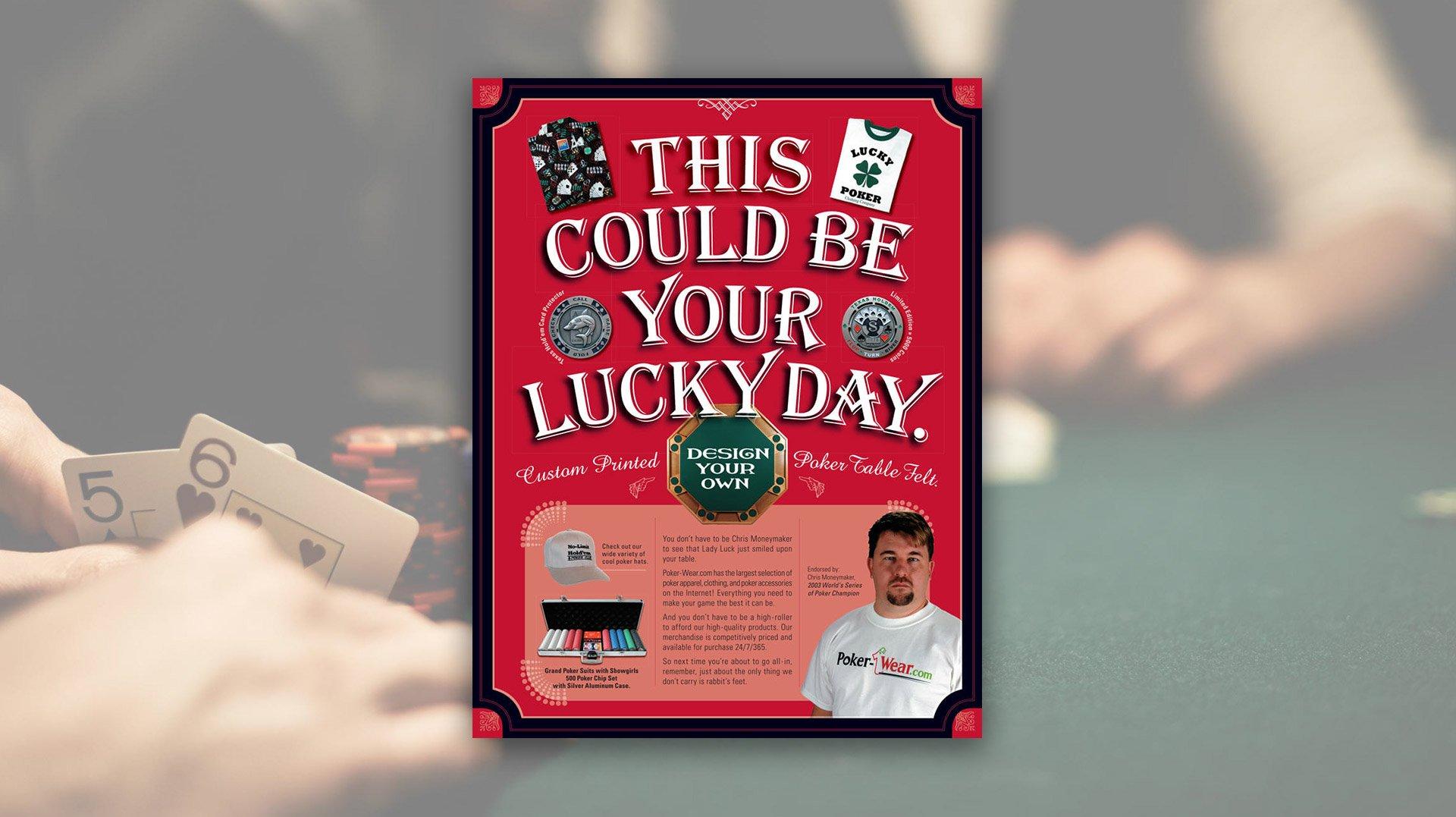 Promotional Sales Flyer Design for Poker-Wear.com