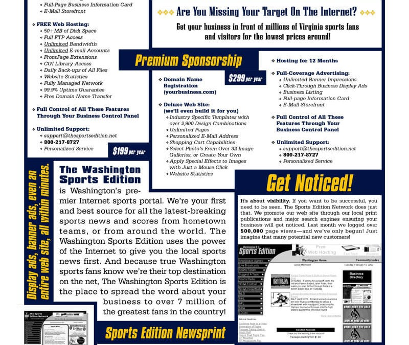 Sports Edition Network Flyer Design