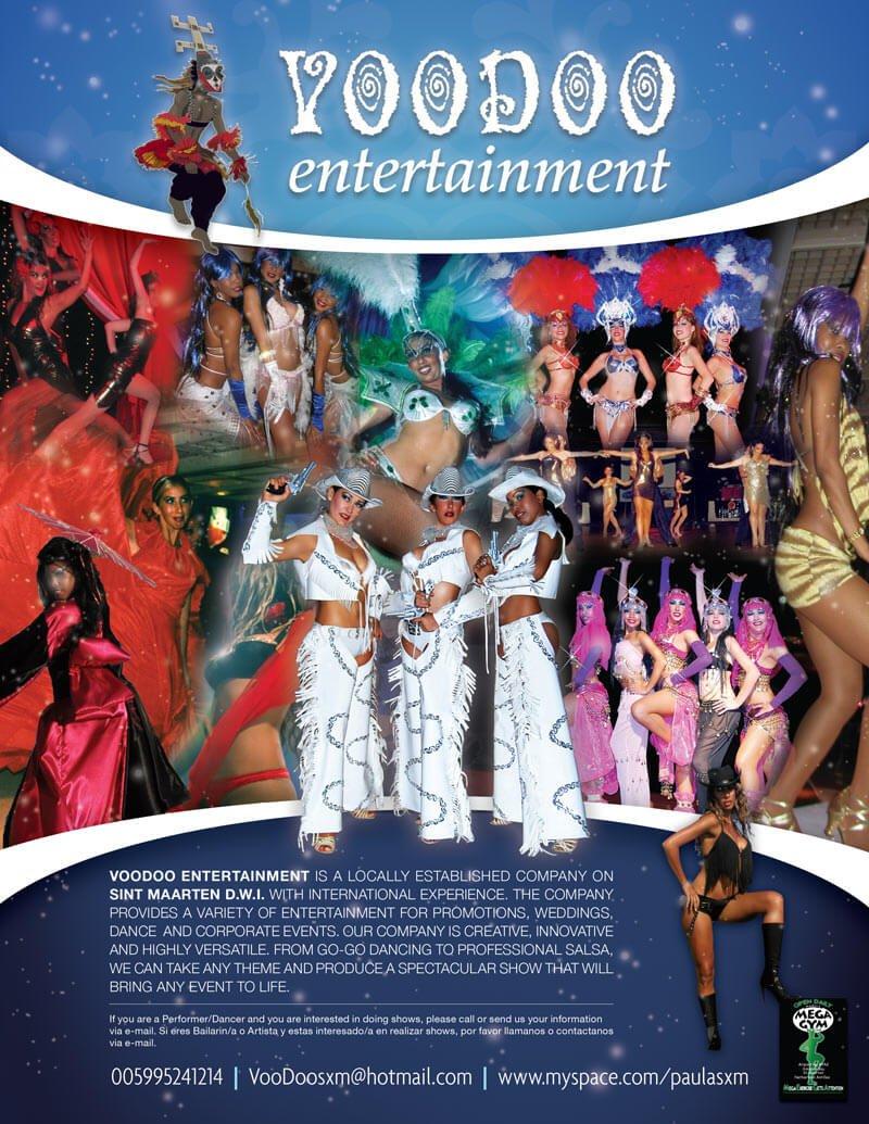 Stardust Dance Show Flyer Design - Back