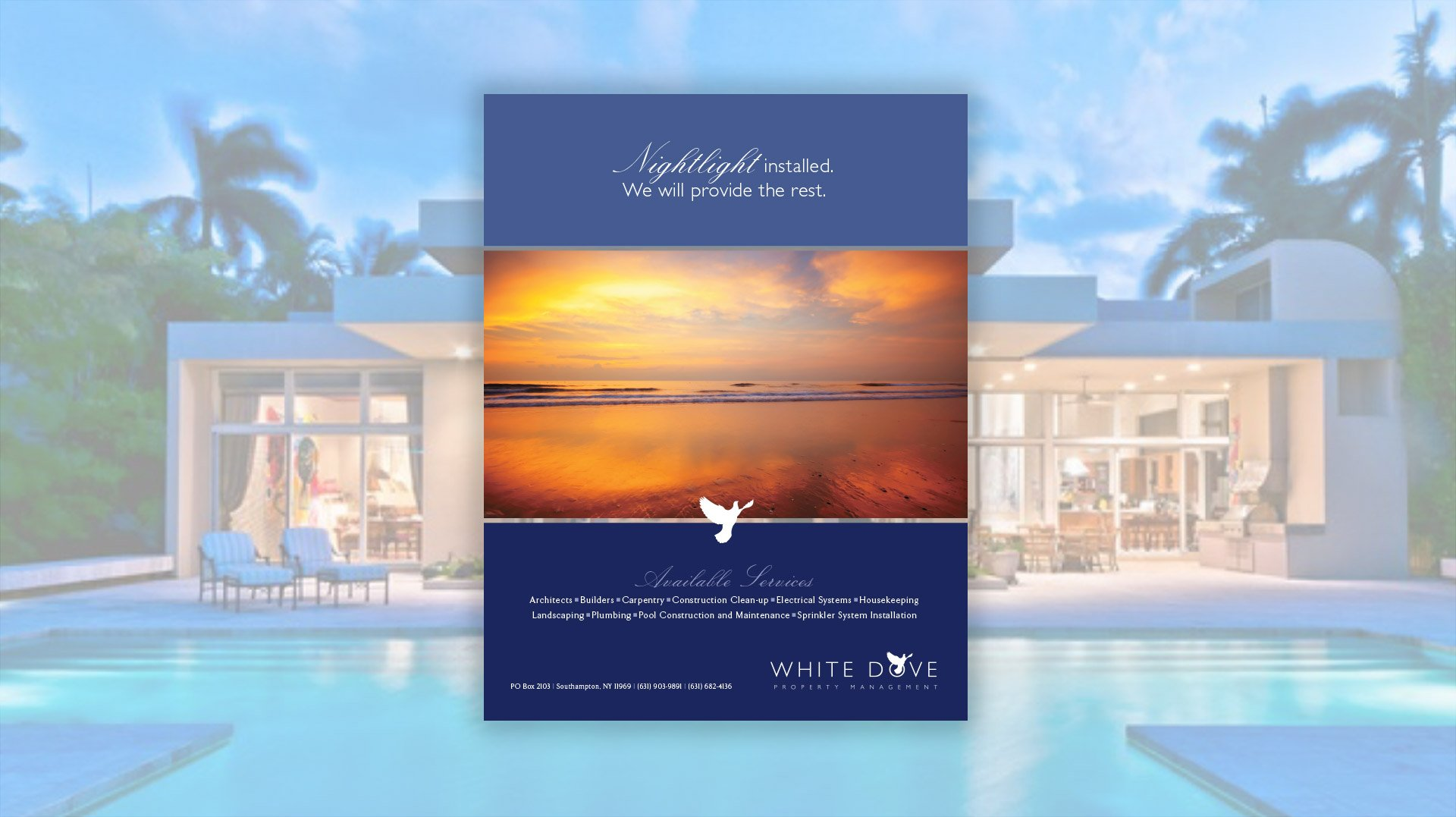 White Dove Property Management Flyer Design