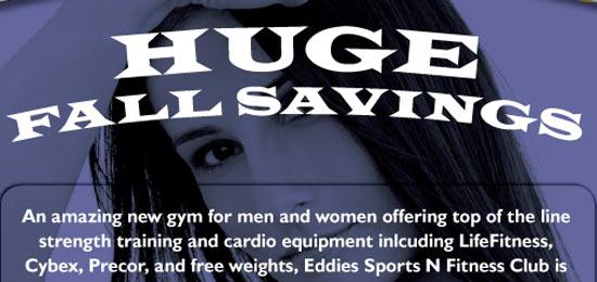 Fall Special Gym Flyer Design