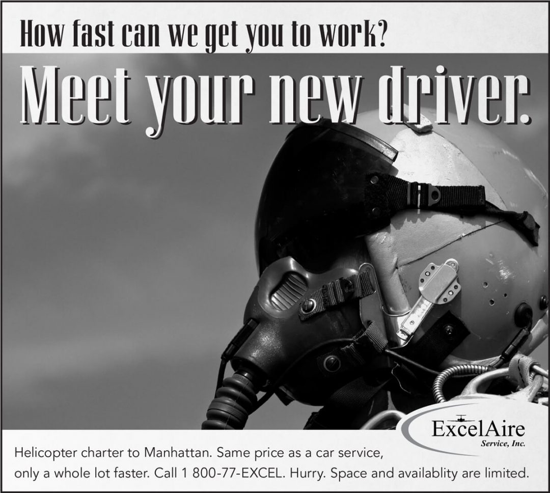 Newspaper Print Ad - ExcelAire Helecopter Transportation