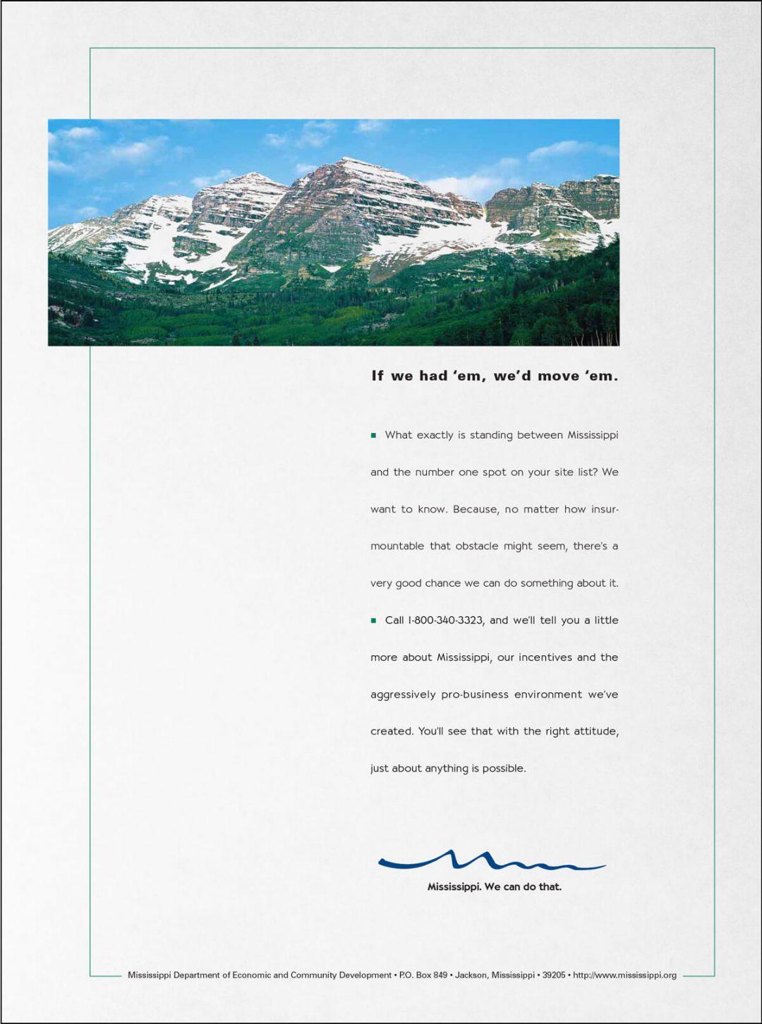 Newspaper Print Ad - MS Economic Development