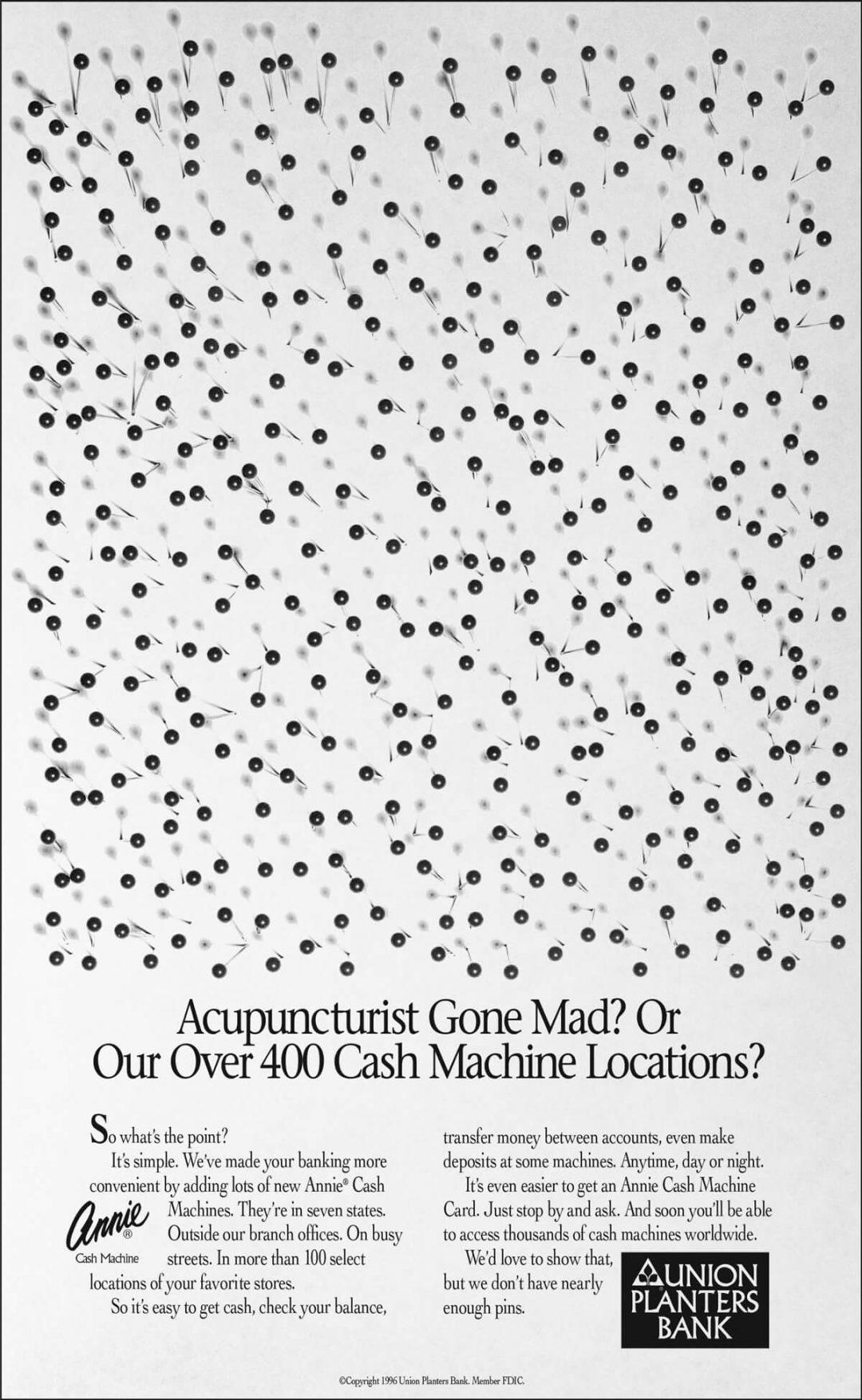 Newspaper Print Ad - Union Planters Bank - Pins