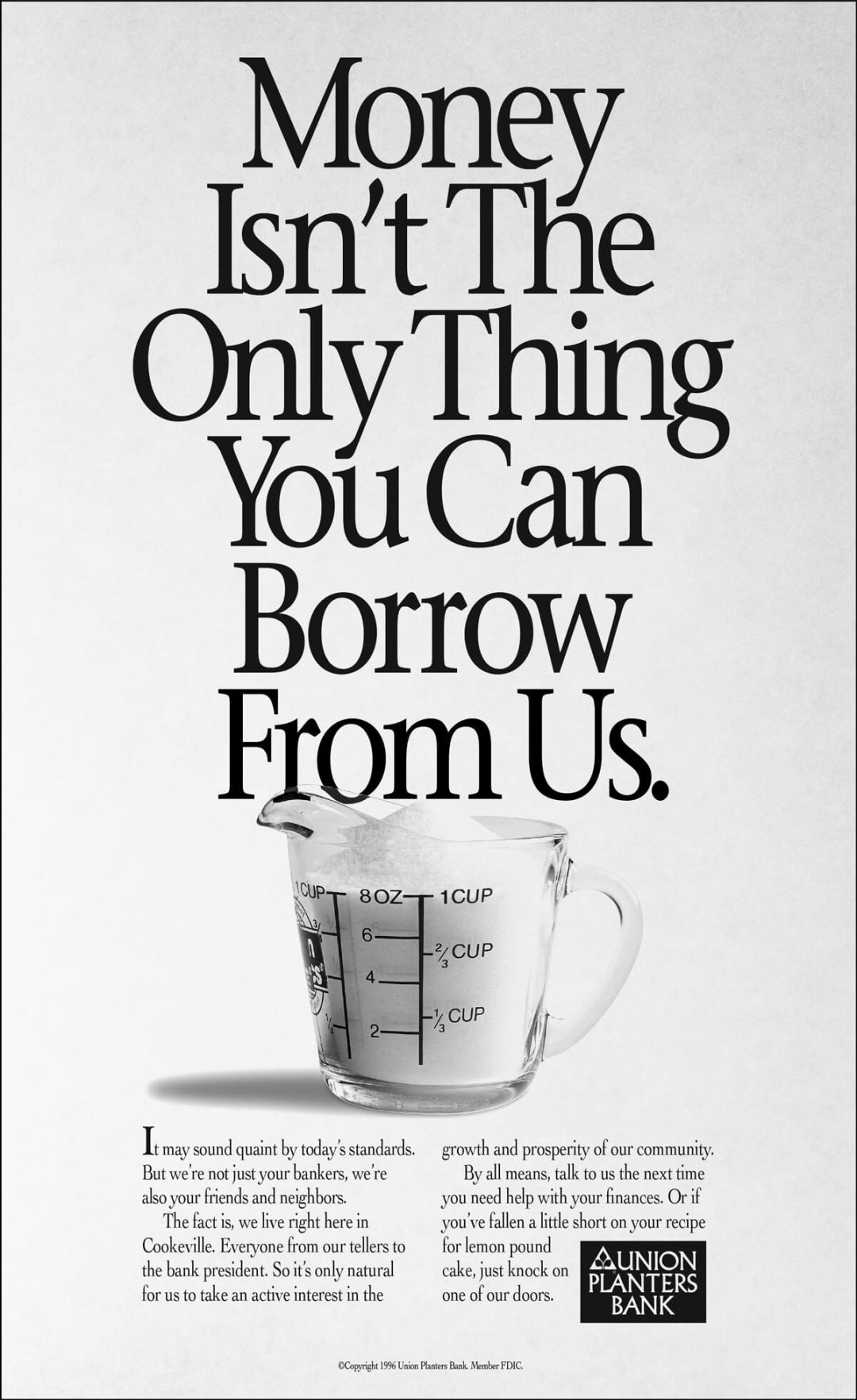 Newspaper Print Ad - Union Planters Bank Cup of Sugar