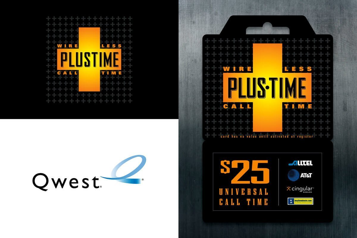 Qwest Communications Calling Card Design - Plus Time