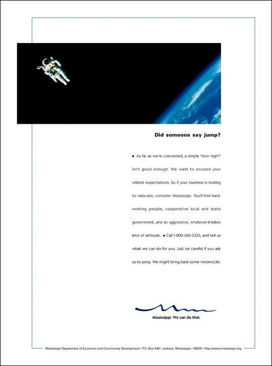 Print Ad: Economic Development Astronaut