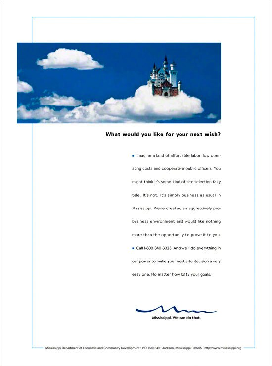 Print Ad: Economic Development Castle